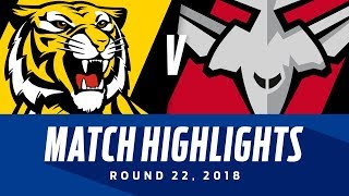 Richmond v Essendon Highlights | Round 22, 2018 | AFL