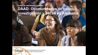 DAAD Colombia: Charla Oportunidades de estudios, investigacion y becas