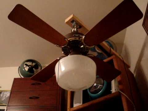 36 Brown Brass Hunter Original Ceiling Fan
