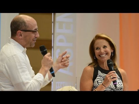 Twitter CEO Dick Costolo talks with Katie Couric at the Aspen Ideas Festival