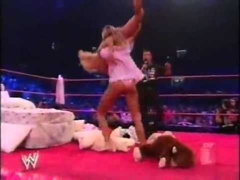 wwe first pillow fight
