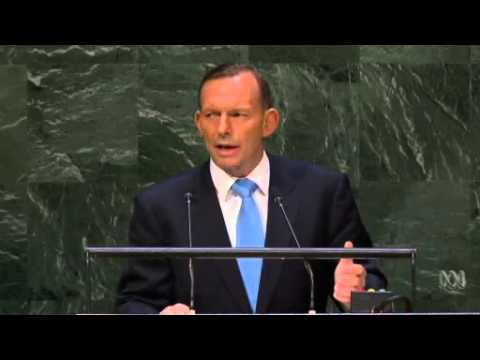 Tony Abbott quotes Ben Chifley's 'Light on the Hill' at UN General Assembly