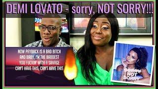 Download Lagu Demi Lovato - Sorry Not Sorry (Lyrics/Lyric Video)   BEECHER DYNASTY REACTS Gratis STAFABAND