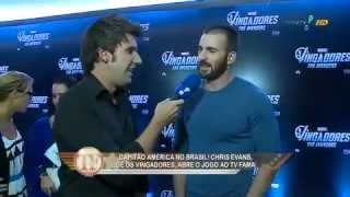 Chris Evans, o Capitão América, no TV Fama com Rafael Pessina!