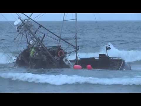 Fishing Boat Wrecks at Ocean Beach San Francisco Aug 4,2014