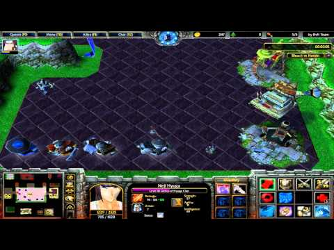[Otaku Na Veia] Warcraft III Gameplay Bleach Vs Naruto - Kuro Yo Vs Ero Gaah HD