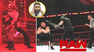 WWE Monday Night Raw 4th November 2019 - Rey Mysterio Ambused Brock Lesnar ! Face Reveal (Facecam)
