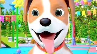 Happy Birthday Bingo - Dog Song | Cartoon Nursery Rhymes by Little Treehouse