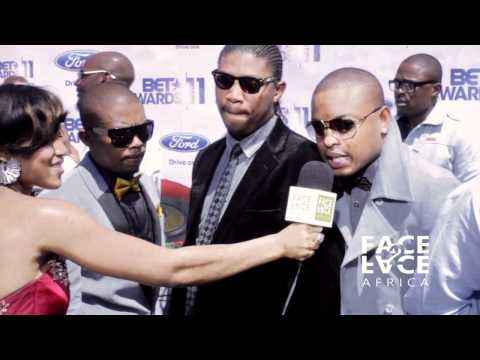 D&rsquo;Banj, 2face, Teargas, Fally Ipupa and D-Black: 2011 BET AWARDS RED CARPET