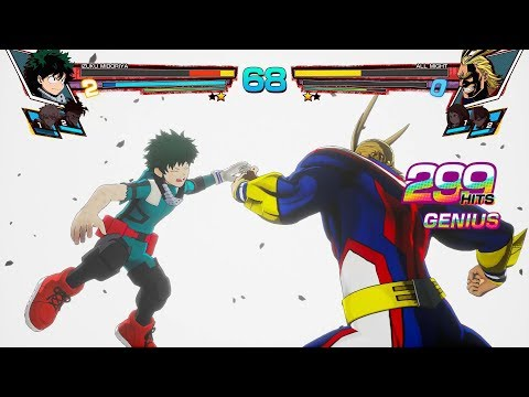 My Hero Academia: One's Justice - All Might vs Midoriya Full Match Gameplay EXCLUSIVE!