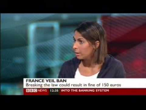 Nabila Ramdani - Bbc News Channel - French Burqa Ban Debate - 11 April 2011 video