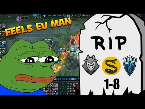 FUNNY/FAIL MOMENTS WORLDS - DAY 4 | FEELS EU MAN | League of Legends 2016