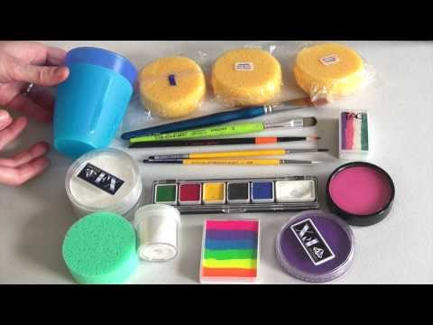 Great face painting supplies &  kit + Product infos - Face Painting Made Easy PART 1