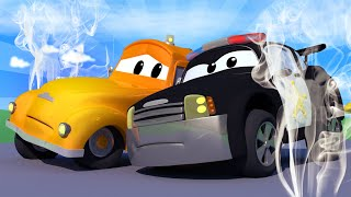 Car Patrol -  The Black Smoke! - Car City ! Police Cars and fire Trucks for kids