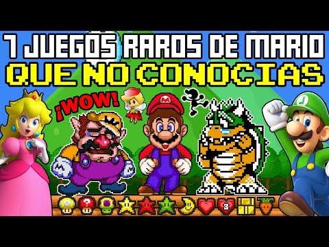 7 Videojuegos mas Extraños de MARIO que NO Conocías