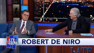 Robert De Niro Turns The Tables On Stephen Colbert