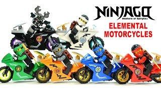 Ninjago Elemental Motorcycles & Shields LEGO KnockOff Minifigure Set 32 w/ Garmadon