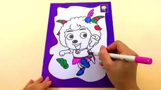 ĐỒ CHƠI TRẺ EM_Tô màu chú cừu vui vẻ_COLORING FOR KIDS_Color Funny Lamb