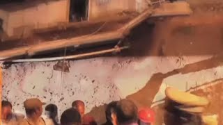 RAW: Moment wall collapses at construction site in India, several killed