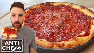 Making CHICAGO-STYLE DEEP DISH PIZZA for the first time