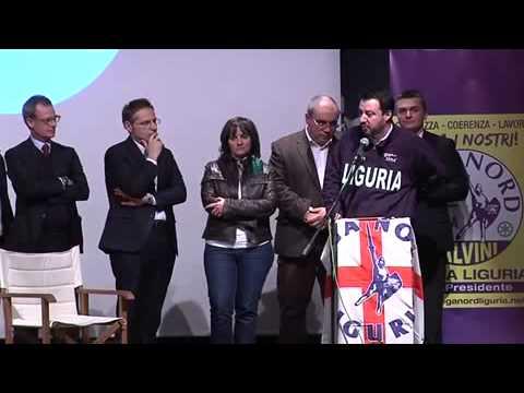 Regionali Liguria, intervento di Matteo Salvini per Rixi Presidente