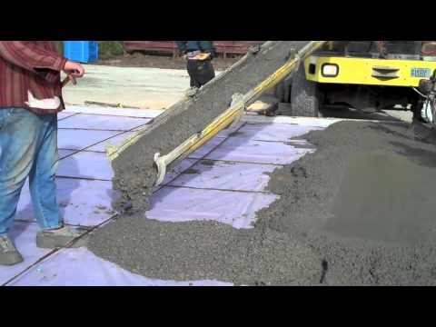 Foam And Pouring Slab M4v Youtube