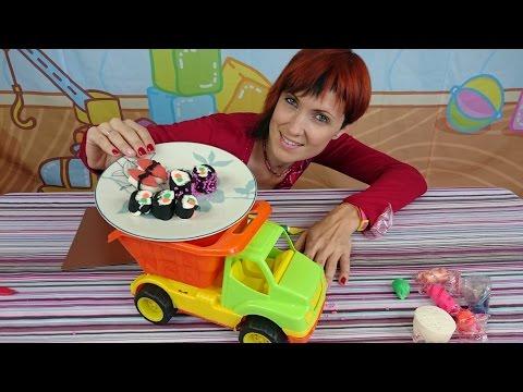Готовим вместе с Машей. Суши. Play Doh  для детей