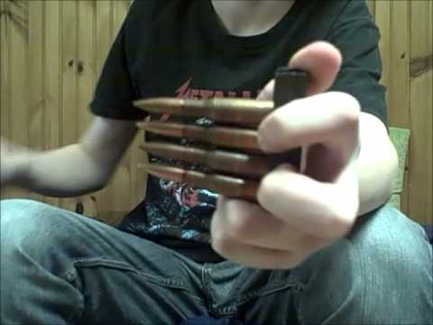 Loading a Mosin Nagant with a stripper clip