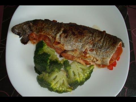 Trucha a la plancha con jamón, #149 - Cocina en video.com