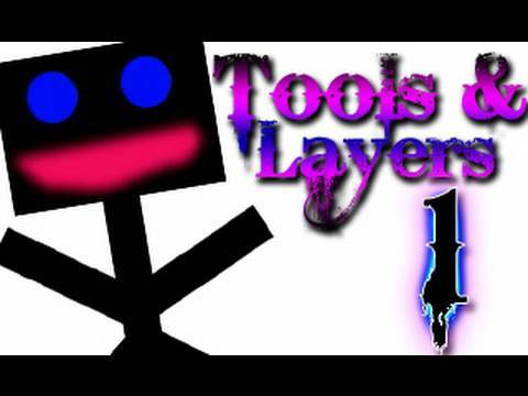 CS4 Tools &amp; Layers (Part 1 of 2) - Photoshop CS4 Beginner Tutorial HD