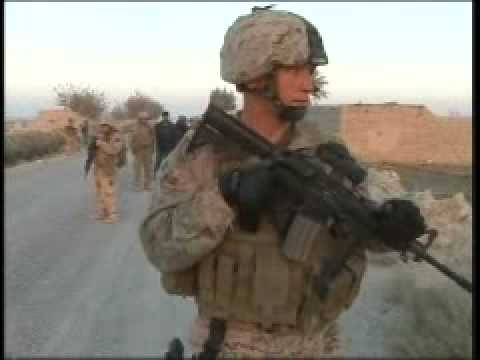 Combat Camera Video: US Marines, Afghan National Army Joint Patrol, Part 1