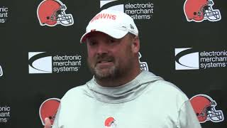 Browns coach Freddie Kitchens responds forcefully to comments made by former coach