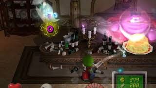 Luigi's Mansion Dining Room Boss Ghost Mr Luggs and Blue Ghost and Cheese