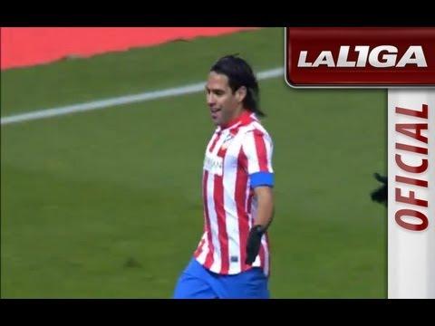 5 goles de Radamel Falcao en el Atlético de Madrid -- Deportivo de La Coruña