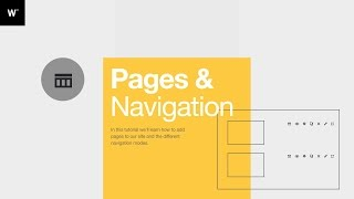 Webydo Tutorial: Pages & Navigation