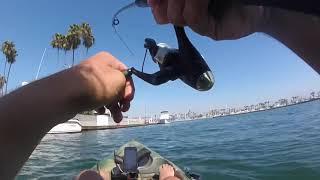 Kayak Fishing Los Alamitos bay for Bass!