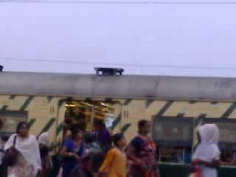 Indian Local Train Coming In Platform video