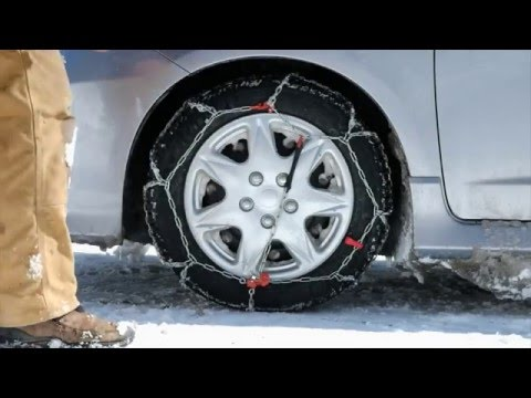 A real world Thule Tire Chain tutorial with a surprise ending.