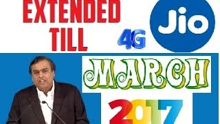 JIO extend till March 2017 [HINDI] GO! Get your JIO Sim