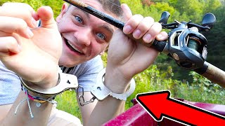 HANDCUFFED Fishing Challenge!