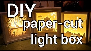 How to Make a Paper-cut Light Box : DIY