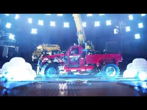LEGO® Technic Mobile Crane MKII tests Wildest Vehicles - Stop Motion