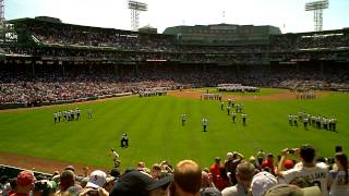 "Carl Beane Introduces the 100th Anniversary Red Sox Players with John Williams' ""Fanfare for Fenway"""