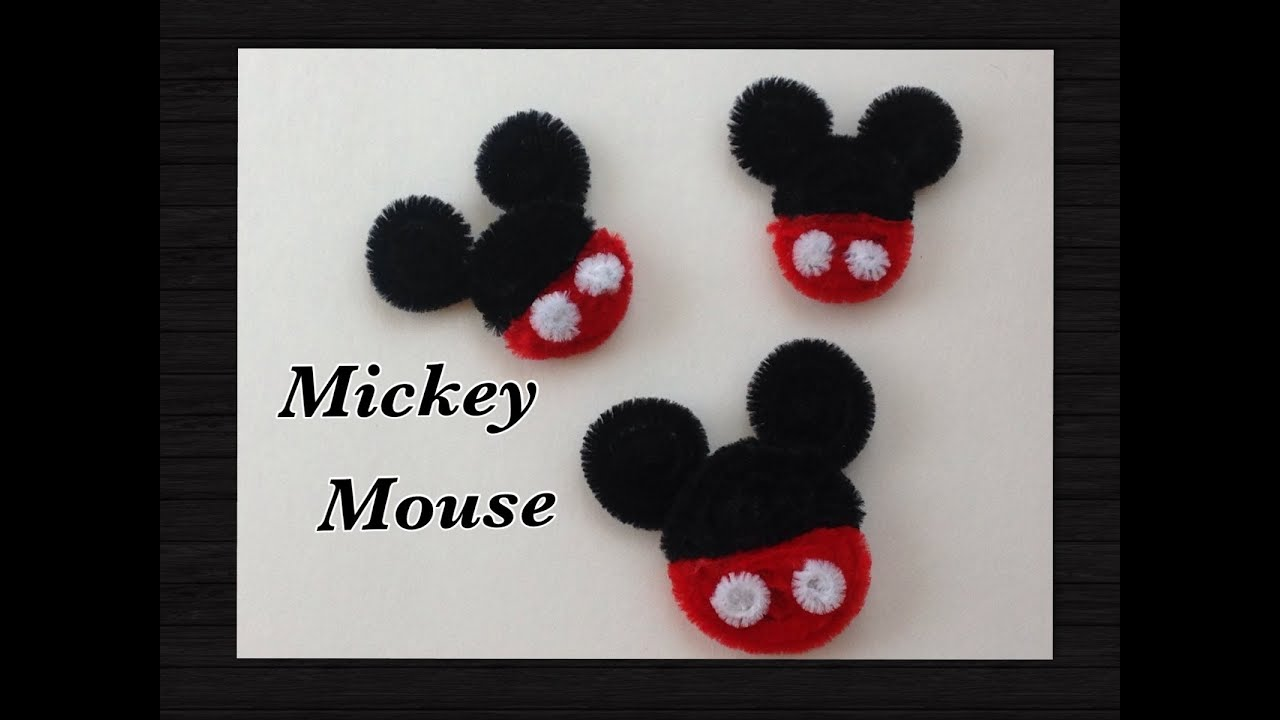 ... MOUSE HECHO CON LIMPIA PIPAS.- PIPE CLEANER MICKEY MOUSE . - YouTube