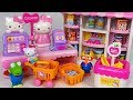 Shopping at Hello Kitty Convenience Store with Pororo! Baby doll Market Casher toys #PinkyPopTOY