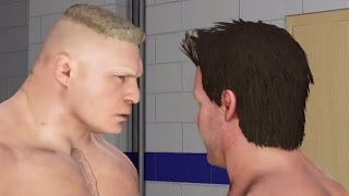 WWE 2K17 Brock Lesnar vs Chris Jericho Backstage Brawl