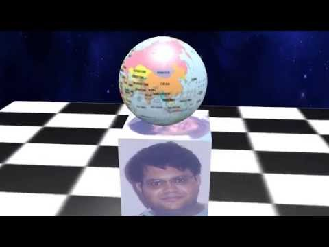 Globe animation with rahul on 3d cube
