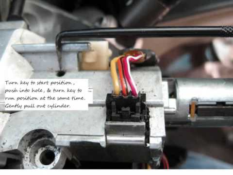 99 Tahoe ignition cylinder removal with passlock - YouTube