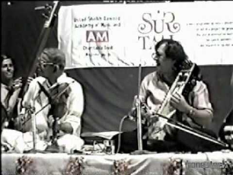 Pt MS Gopalakrishnan & Ut Sultan Khan Jugalbandi Bhairvi Part...