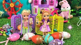 Anna and Elsa Toddlers Easter Egg Hunt! Elsia and Annia and the Twins Easter Breakfast & Egg Hunting